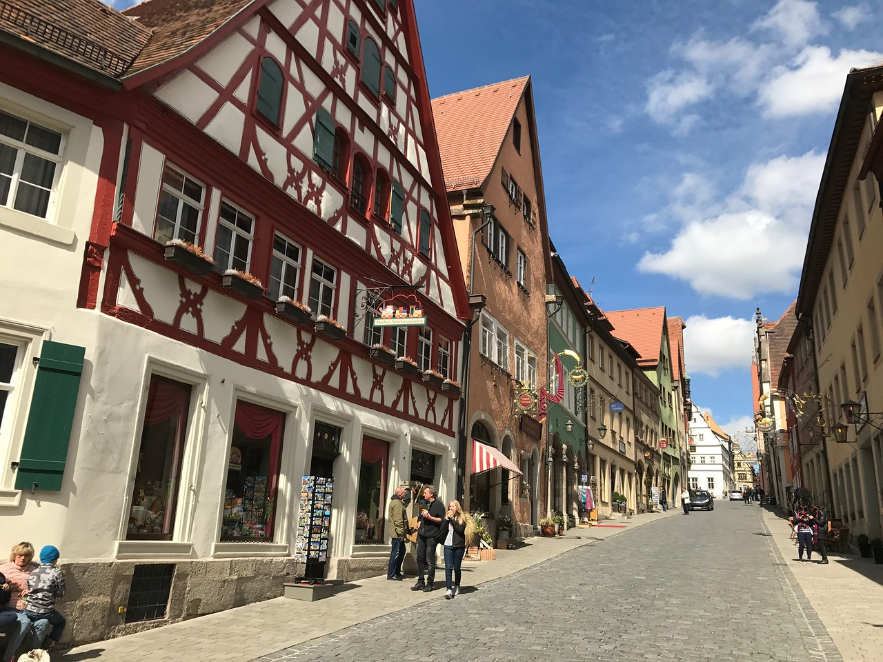 A side street off of Marktplatz is lined with beautiful old houses and businesses.
