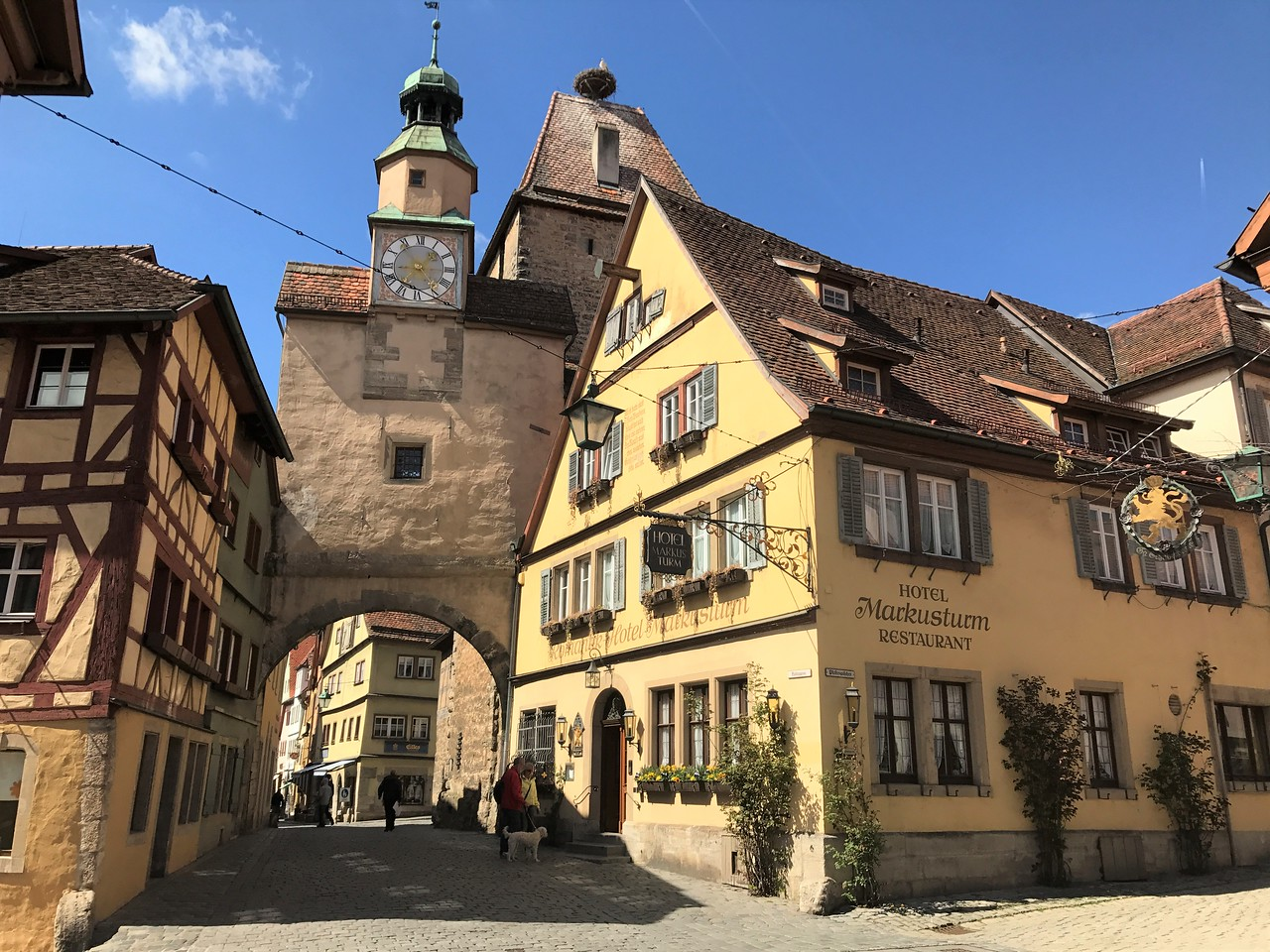 """Our hotel was the Marusturm, built into the told town wall at the Markusturm Tower.  It dates to 1200 when it was """"an inn for weary travelers"""".  The accommodations were modern and one of our favorites."""
