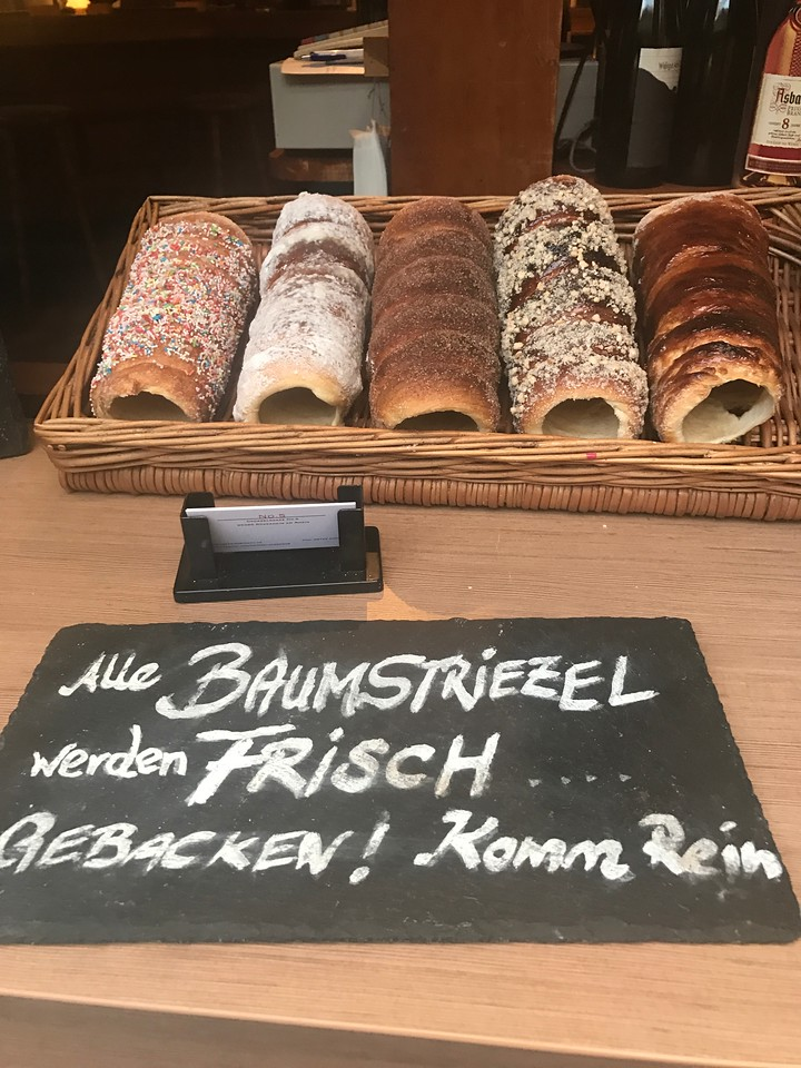 Various flavors of Baumstreizel that they had to offer.