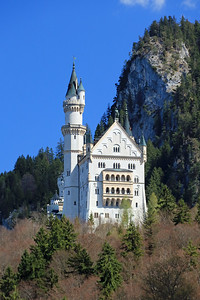 Neuschwanstein Castle as seen from the walking path from the village to the castle.