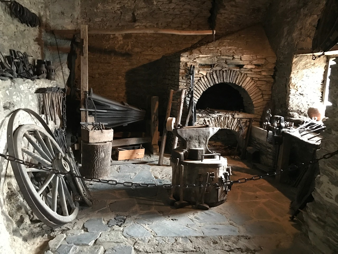 The workshop where everything from armor to wheels were made and repaired.