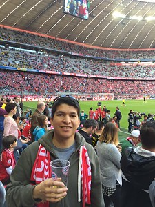 Inside the Allianz Arena.