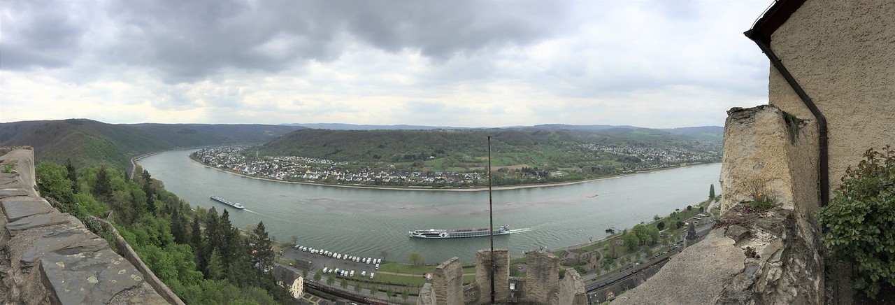 The view across the Rhine from the castle.  We were told that the cannons could just barely reach the other shore.