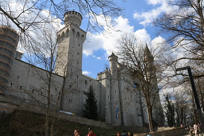 A side view of Neuschwanstein as we arrived at the castle.