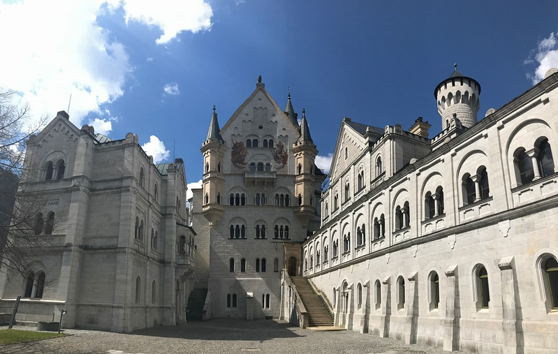 The inner courtyard of Neuschwanstein as we waited for our tour of the interior.  Photos were not permitted inside the castle.