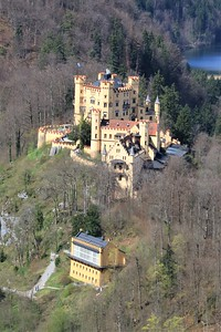 Hohenschwangau from Neuschwanstein.