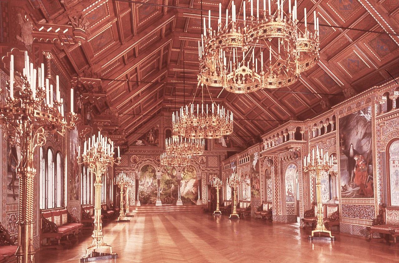 Singer's Hall where composer Wagner performed.  This picture dates to the time we visited Neuschwanstein in 1983 while we lived in England.