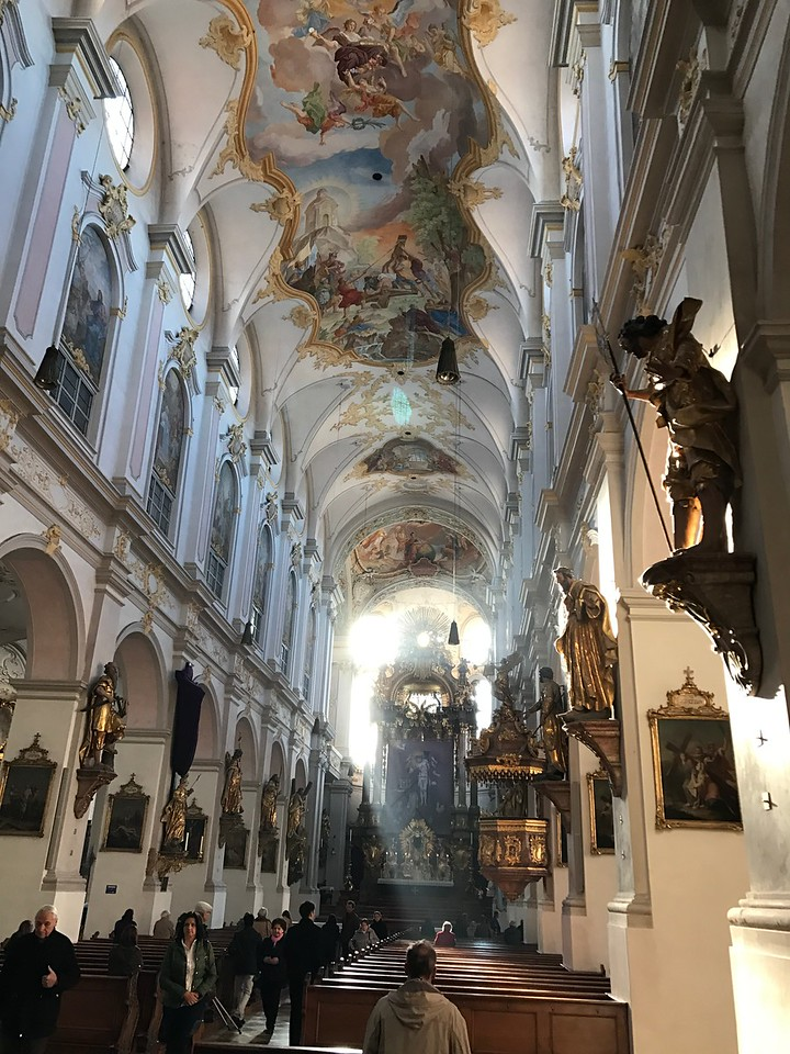 the beautiful baroque interior of St. Peter's Church.  It dates to the 1200's.