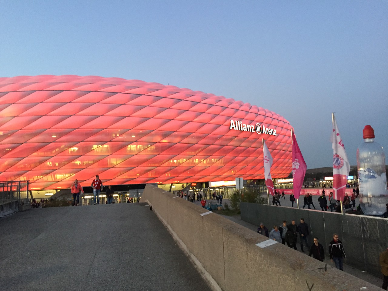 We arrived in Frankfurt and drove to Munich where Fernando attended a  Bundesliga soccer match, the top tier of the German football league system, between Bayern Munich and Dortmund.  Here is the Munich stadium.
