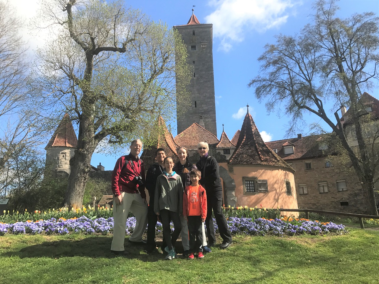 Us in the Castle Gardens In front of the Burgtor Gate.