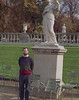 Here is Mike next to some random Muse or other in the Luxembourg Gardens.