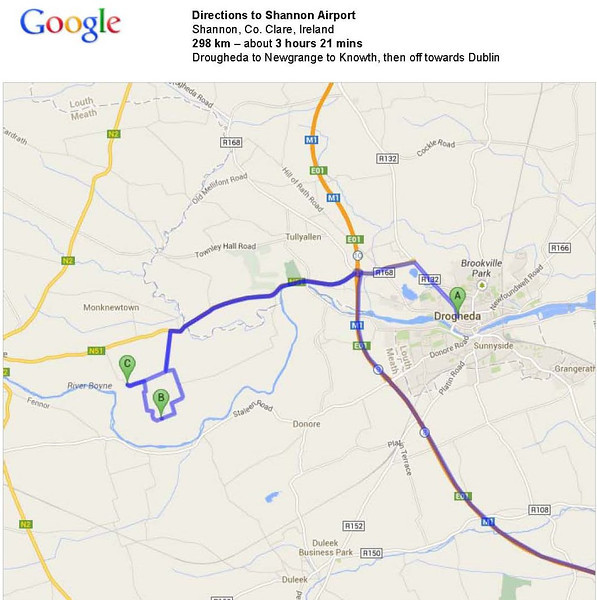 Drogheda to Newgrange to Knowth, then on towards Dublin