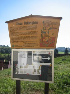 Sign for historic museum (unfortunately only open on Sundays) in Neidenstein.