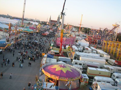 view from the Ferris Wheel, Oktoberfest, Munich.