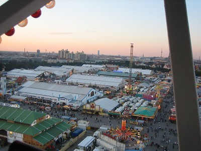 view from the Ferris Wheel, Oktoberfest, Munich