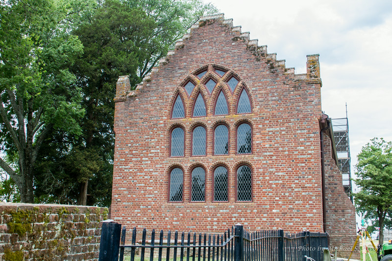 The old church. It was being restored.
