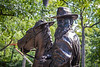 Robert E. Lee and his horse Traveller.