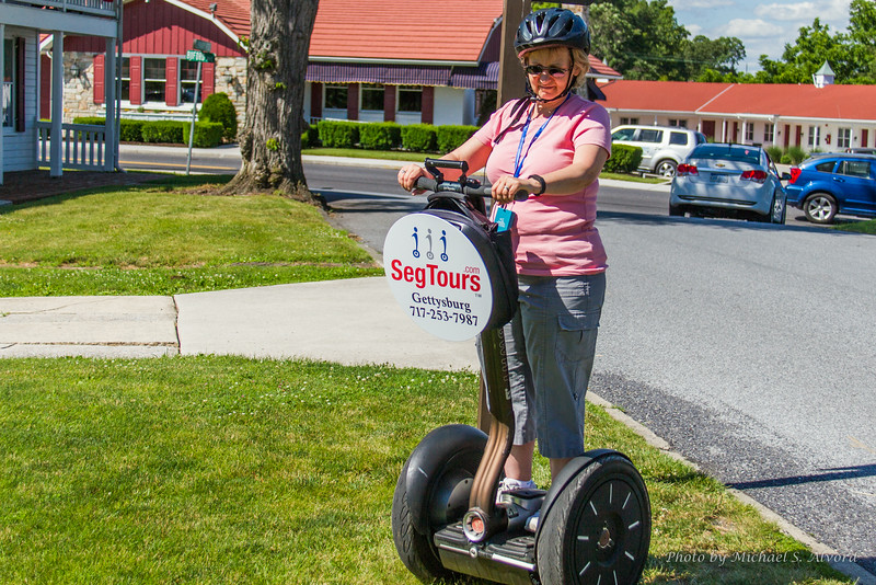 Roe on the Segway Tour