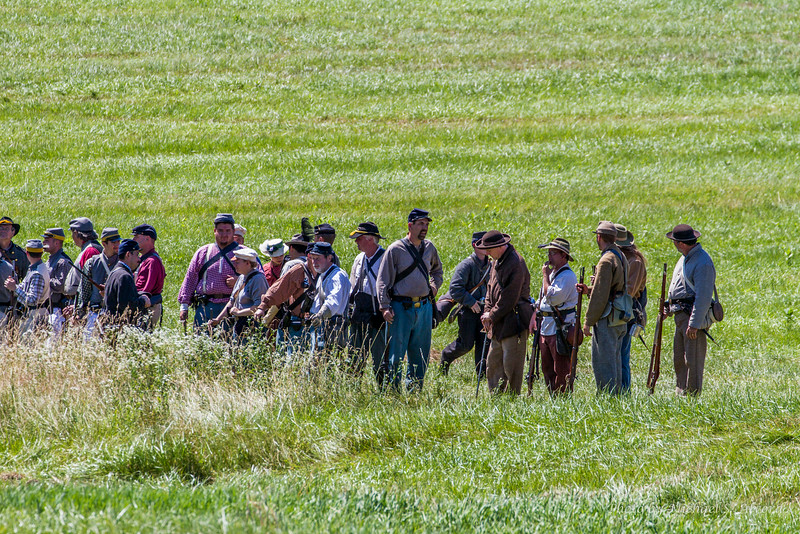 These are just regular people who enjoy dressing and reenacting civil war battles.