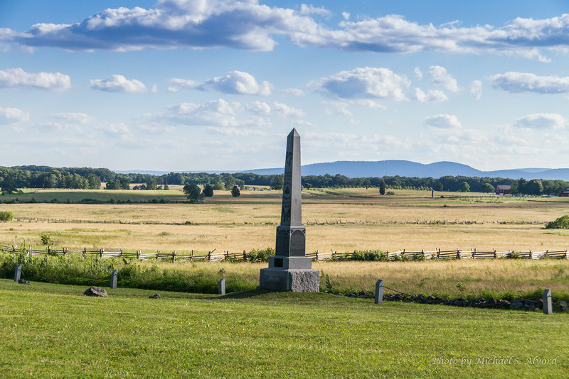 Looking out from one of the many monuments at the battlefield.