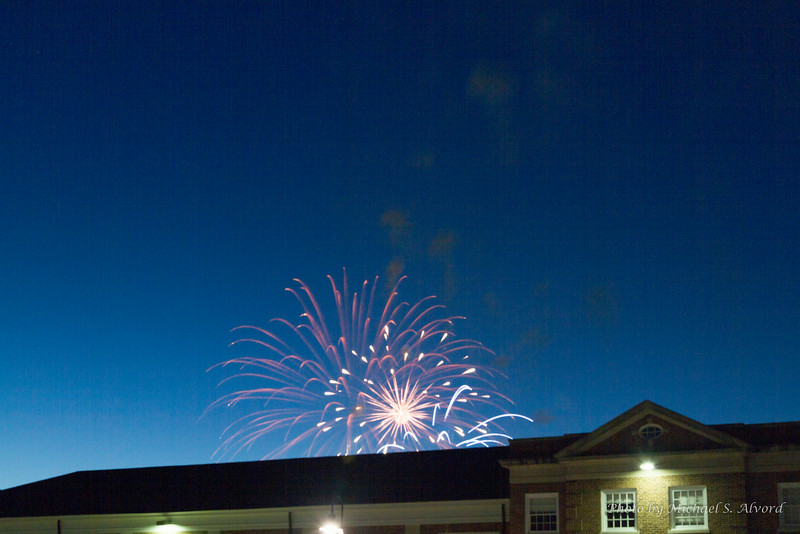 Since we were in Gettysberg on the 4th, the college had a fireworks show.