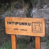 From the Inca Trail side there is this sign, so you know that you have made it to the top.
