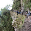 The trail from the Inca Bridge back to Machu Picchu.
