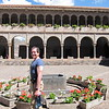 Ed in the plaza of the Church of San Domingo.