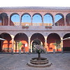 This is the courtyard of our hotel in Cusco. Today we check out of here and head to Hotel Mercado for the REI tour.