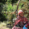 We stopped up Ancasmarcas to view an Inca granary, this little girl was with her mother selling hand-woven items.