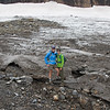 Standing on the edge of the glacier