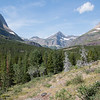 Heading up the Swiftcurrent Valley