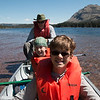 Canoeing on Two Medicine Lake