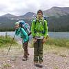 Hiking back out along Elizabeth Lake