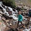Hiking up to Gunsight Pass