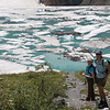 """Upper Grinnell Lake and the glacier. Or as Keira called it, """"Little Antarctica"""""""