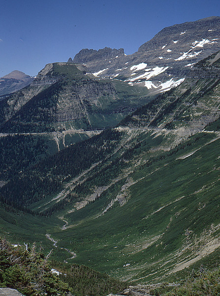 Part of the Going to the Sun road.