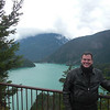 Ross lake on the North Cascade Hwy (Hwy 20) ,,, the color comes from the glacial runoff.