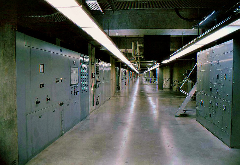 Hallway in the dam near the control room