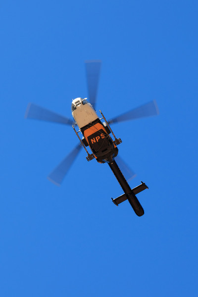 The NPS helicopters were busy, either bringing parts to fix the broken pipeline, or flying someone out.