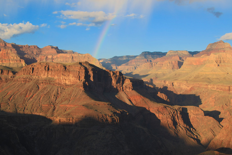 We had a great seat for dinner that night. Plateau Point near Indian Garden.