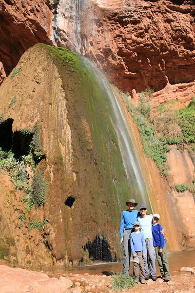 Ribbon Falls from the bottom.