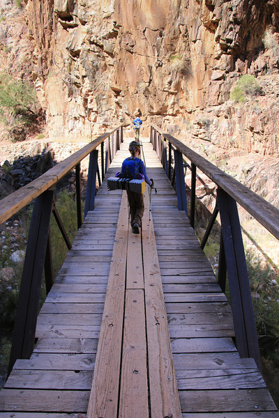 Down in the Inner Gorge. There were lots of bridges across the river.