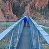 Crossing the Colorado River on the Silver Bridge