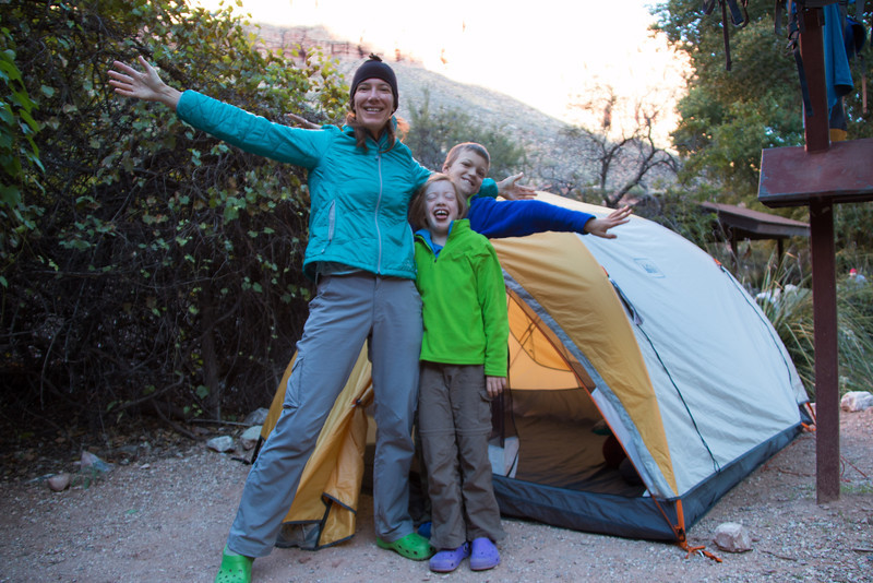 Our third and last campsite, at Indian Garden.