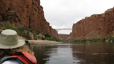 Hiway 85 crosses the Colorado River and Marble Canyon here - there are two bridges, the old and the new..