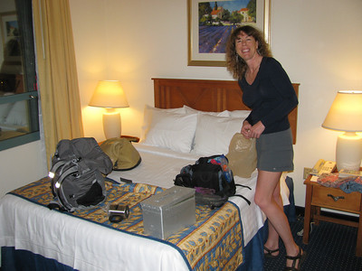 Tanya getting ready in Las Vegas..