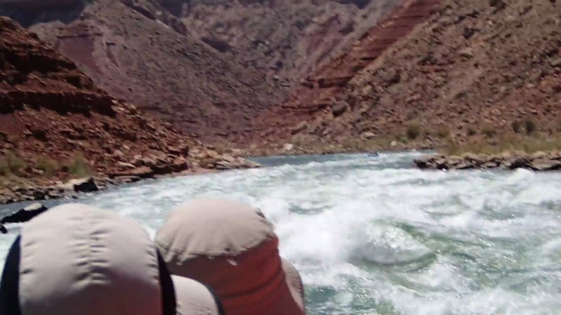 18 second clip of some pretty rough rapids early in the trip. Notice how clear the Colorado River is at this point.