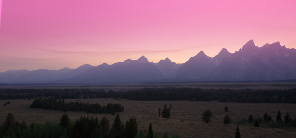 Driving towards our campsite takes us past the Grand Tetons - what a view!