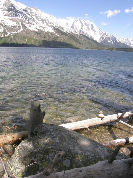 The rock Fred & I chose as our last resting place! As long as The Tetons and Jenny Lake are here so will this rock.
